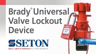 How to Install A Brady® Universal Valve Lockout Device | Seton Video