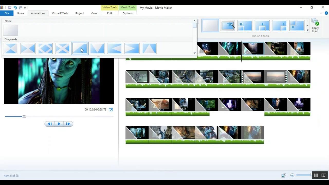 how to make slide show presentation in window movie maker free