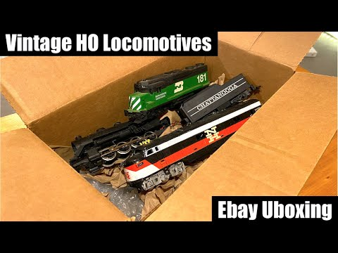 Ebay Vintage HO Locomotives Unboxing & Haul
