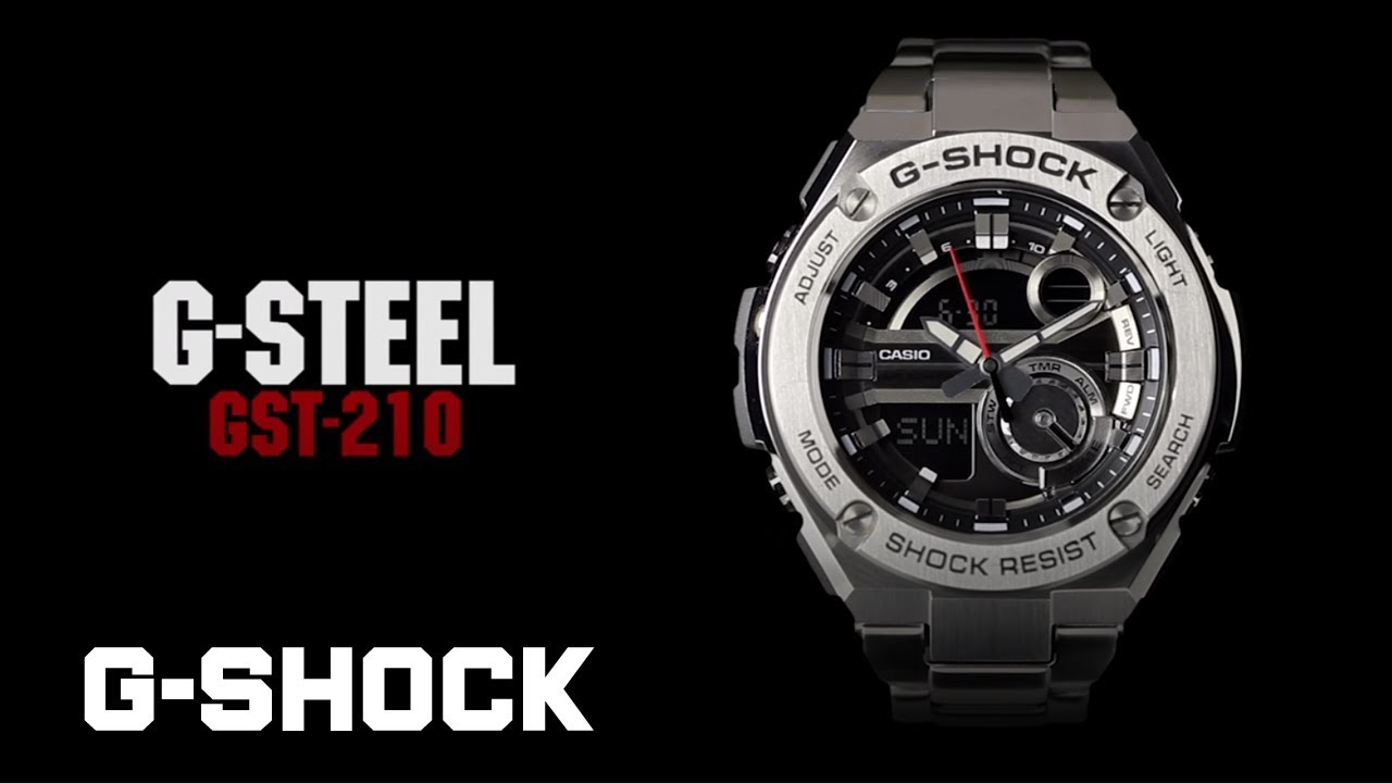 Casio G Shock G Steel Gst 210 Product Video Youtube
