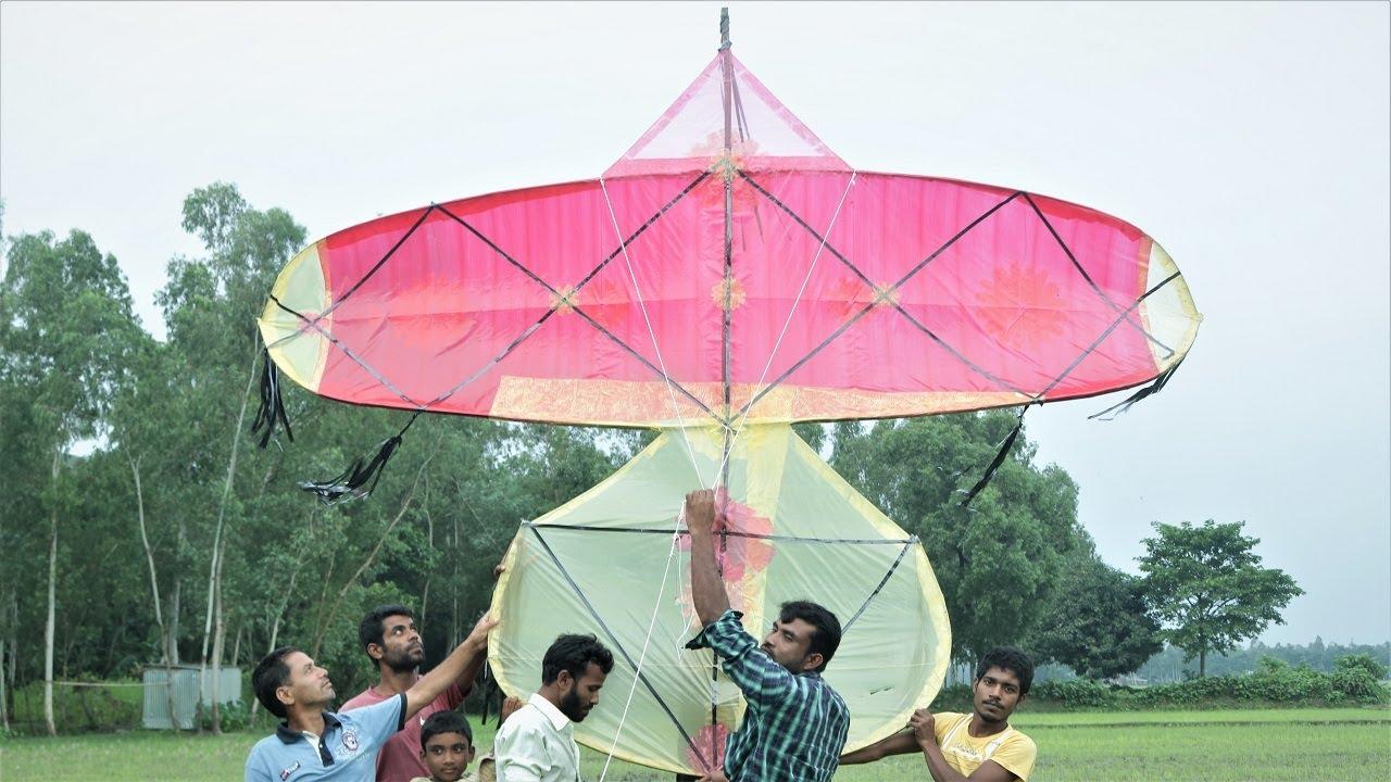 বাহারি ঘুড়ি উড়ছে দেশের বিভিন্ন স্থানের আকাশে । ghuri festival