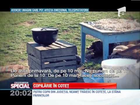 Patru copii din judetul Neamt traiesc in cotete, la stana parintilor