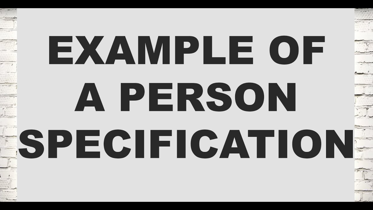 Example of a person specification (Legal Cover Letters