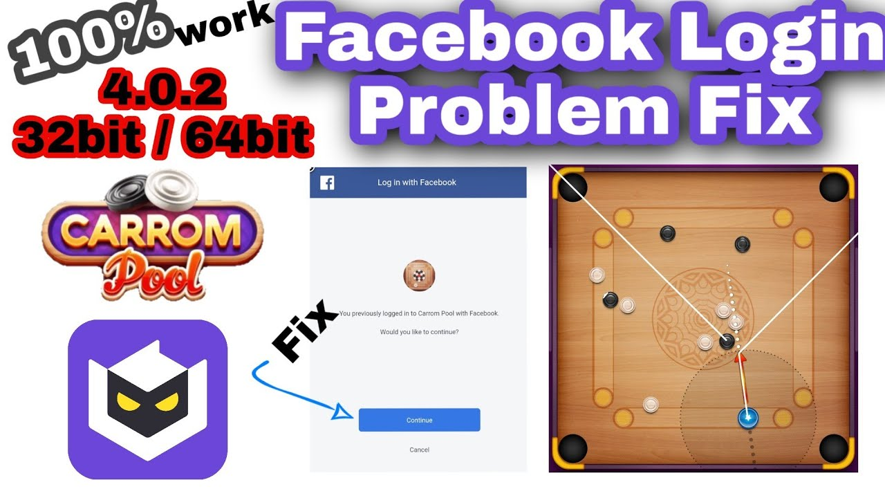 Lulubox Carrom Disc Pool Facebook Login Issue Solutions White