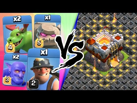 Clash Of Clans | ALL TROOPS vs ONE BASE!!! | INSANE ALL TROOP ATTACK STRATEGY 2016!