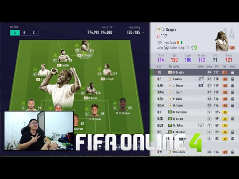 FIFA ONLINE 4: I Love TEST DÀN ICON KHỦNG 700 TỶ Cùng VIEIRA - ESSIEN - ZIDANE - DROGBA ICON +2