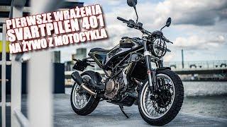SVARTPILEN 401 - pierwsze wrażenia - jazda motocyklem po Warszawie na live