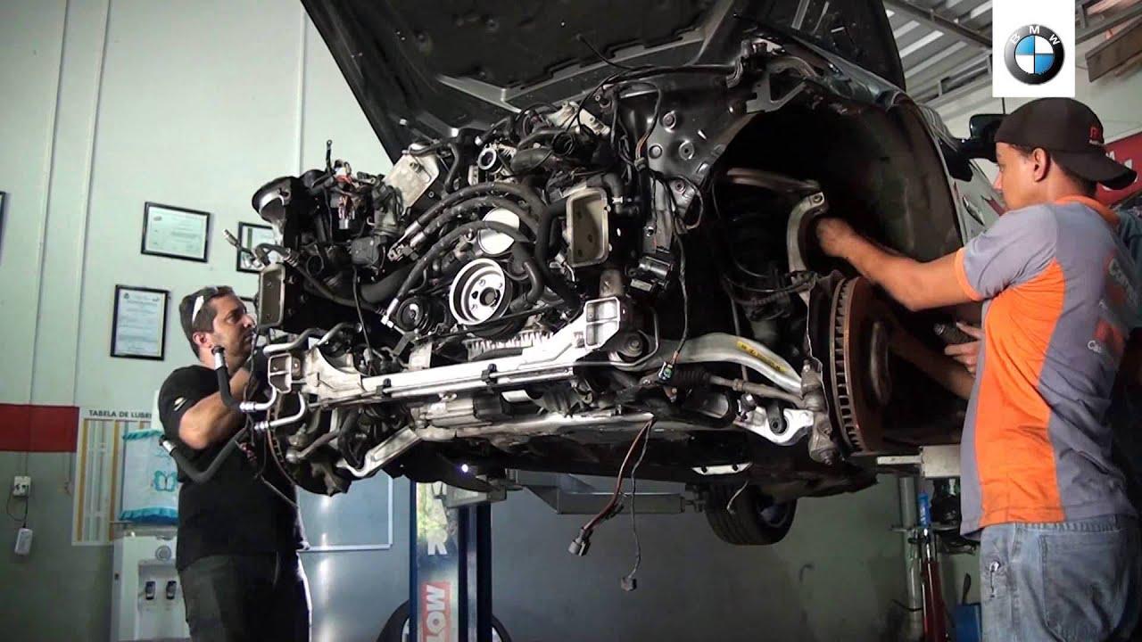 Bmw 550 F10 engine removal N63 - Removendo motor bmw 550 F10