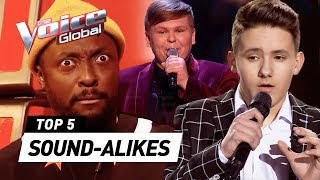 MIND-BLOWING SOUND-ALIKES in The Voice Kids