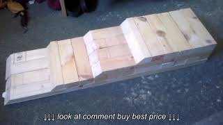 DIY Car Ramp Wooden low cost homemade vehicle stand lift to give room to work
