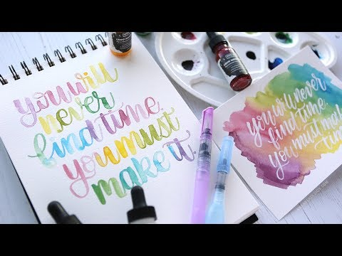 Lettering with Liquid Watercolors from Hero Arts