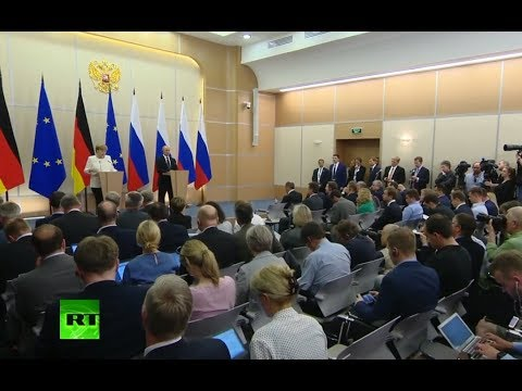 Putin & Merkel speak to press in Sochi (streamed live)