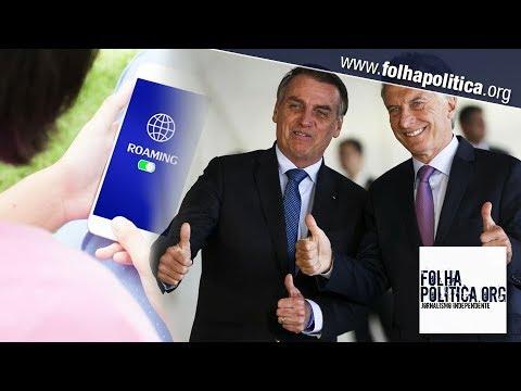 Bolsonaro assumirá presidência do Mercosul e pode eliminar cobrança de roaming