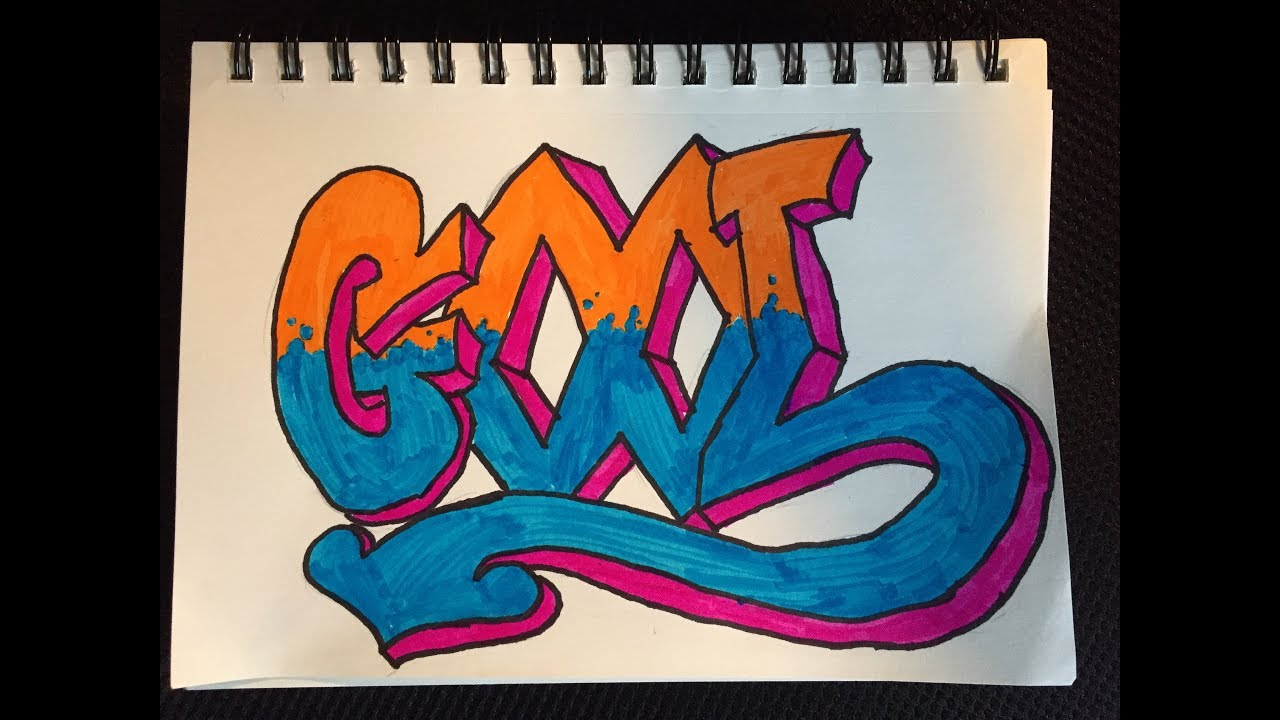 How To Draw The Word Cool Graffiti Style