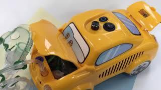 Детский компрессорный ингалятор Машинка Формула Здоровья (Ortolab обзор)