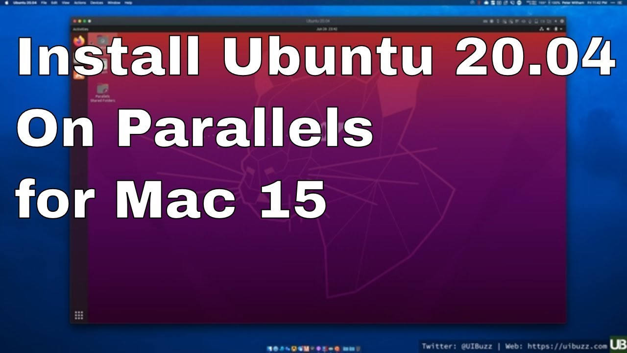 Installing parallels for mac