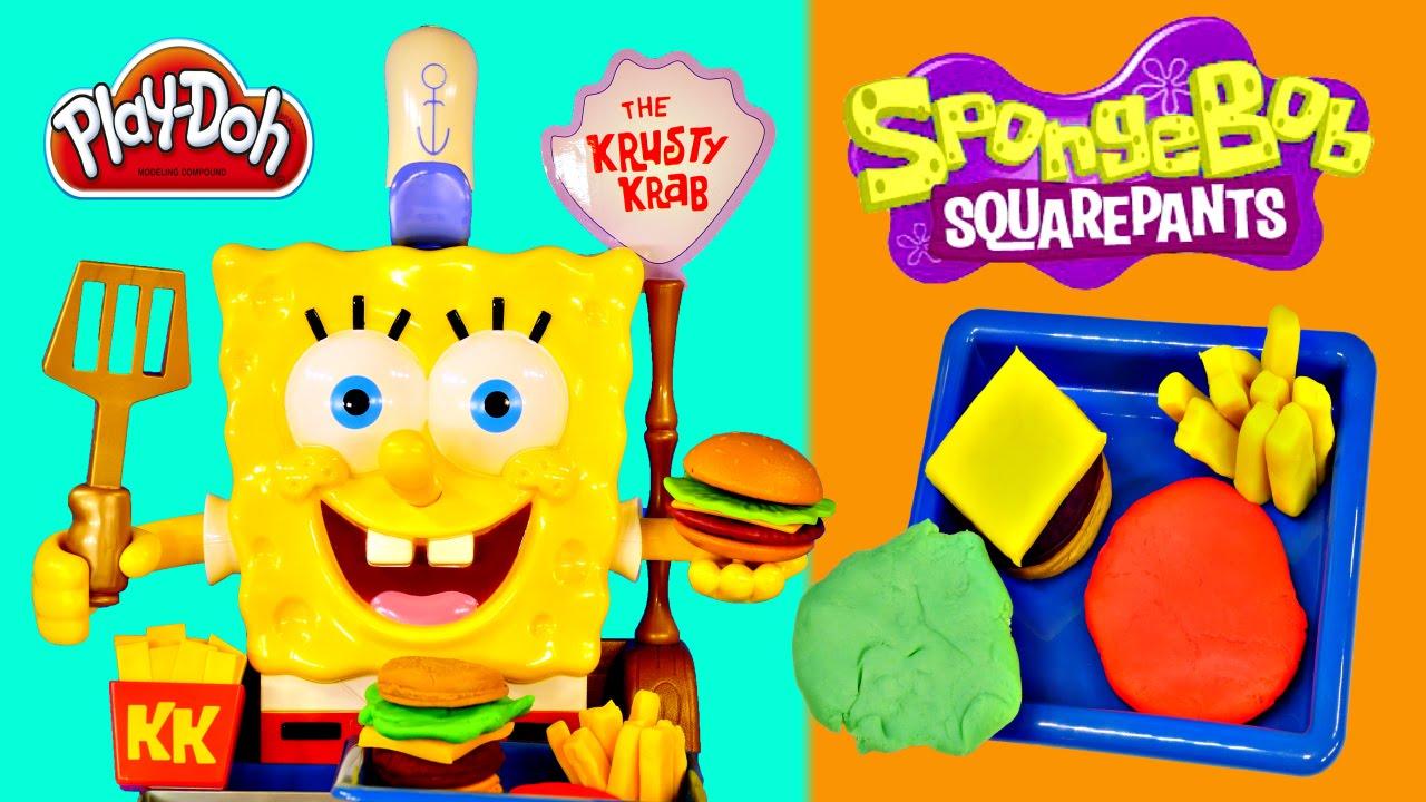 Trend Spongebob Squarepants Talking Krabby Patty Maker Play Doh Krusty Krab Burger Playdough Toys YouTube
