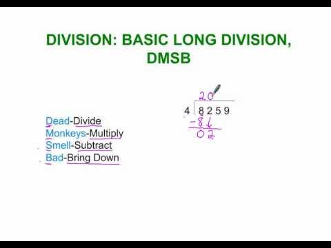 Division: Basic Long Division, DMSB