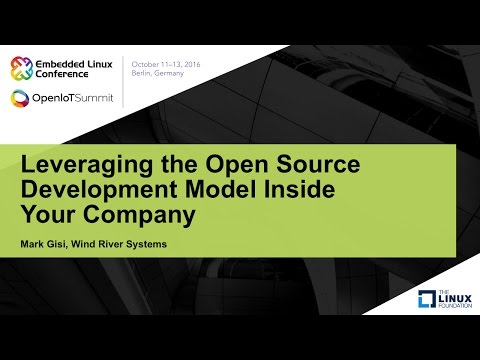 Leveraging the Open Source Development Model Inside Your Company