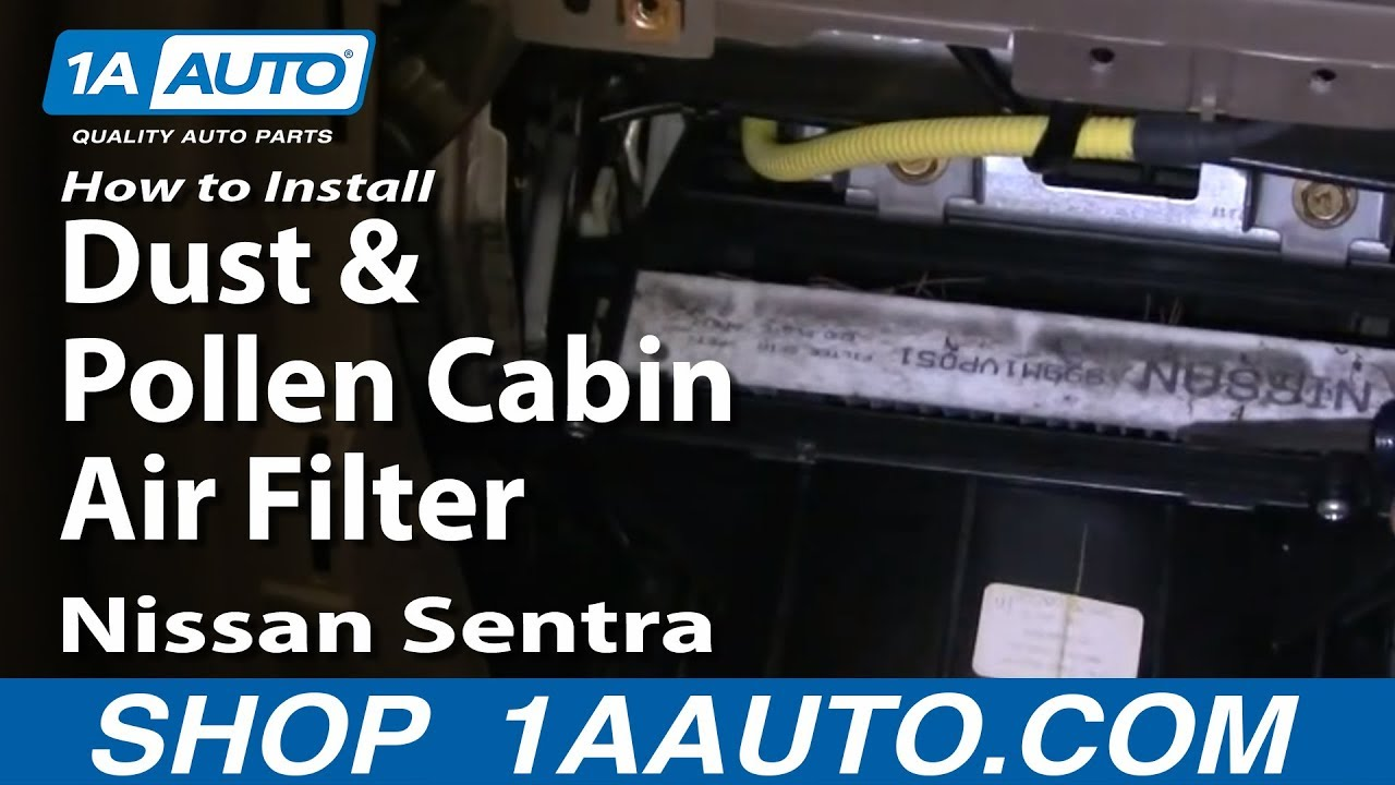 How To Install Replace Dust And Pollen Cabin Air Filter Nissan Sentra 00 06 1aauto Com Youtube