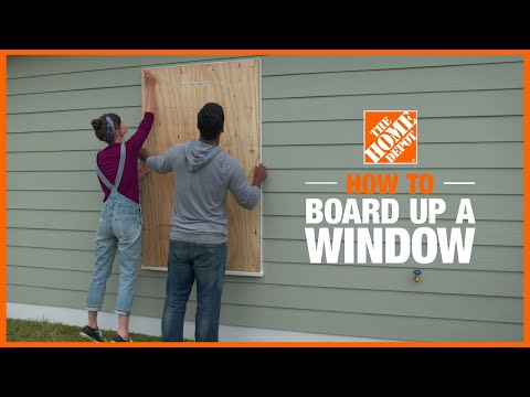 How to Board up a Window Before a Storm