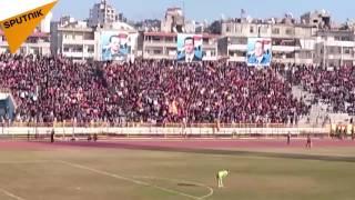 بالفيديو...الرياضة في سوريا تطفئ لهيب المعارك وتزعج الإرهابيين