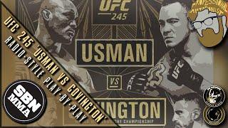 LIVE UFC 245   Kamaru Usman vs. Colby Covington   Radio-Style Play-By-Play Results Stream