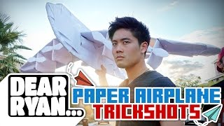Repeat youtube video Ultimate Paper Airplane Trickshot! (Dear Ryan)
