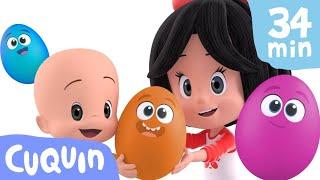 Huevos Sorpresa: ¡aprende con Cuquín! | Caricaturas y dibujos animados para bebés