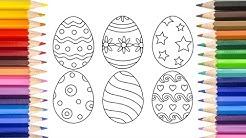 Великденски яйца - Картинка за оцветяване