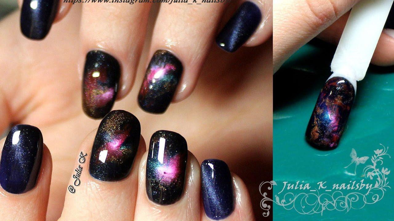 Космос на ногтях <b>гель лаком</b>. Дизайн ногтей Палехская шкатулка ...