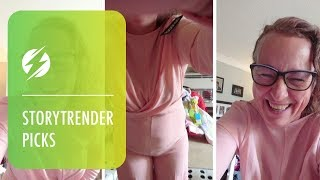 Woman's Hilarious Reaction To Outfit Fail