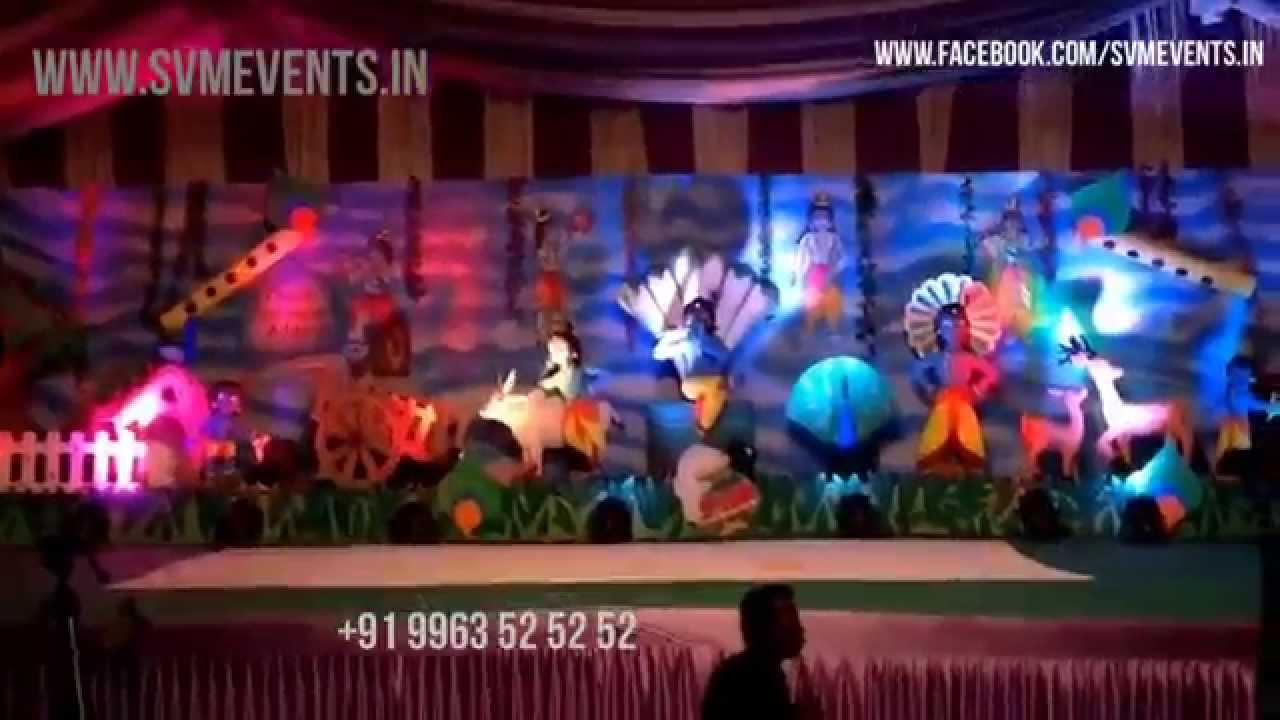 Little Krishna 3D theme for Birthday parties Cradle ceremony's and Any kids  related Events
