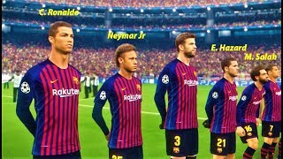 Ronaldo, Neymar, Mbappe, Salah, Hazard, going to Barcelona? | Barcelona vs Juventus | PES 2018 HD