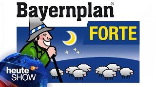 Wenn Seehofer nicht schlafen kann, nimmt er Bayernplan Forte