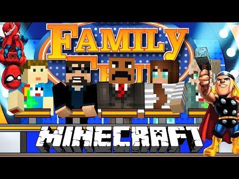 Minecraft: FAMILY FEUD #3 | SUPERHEROES EDITION!!