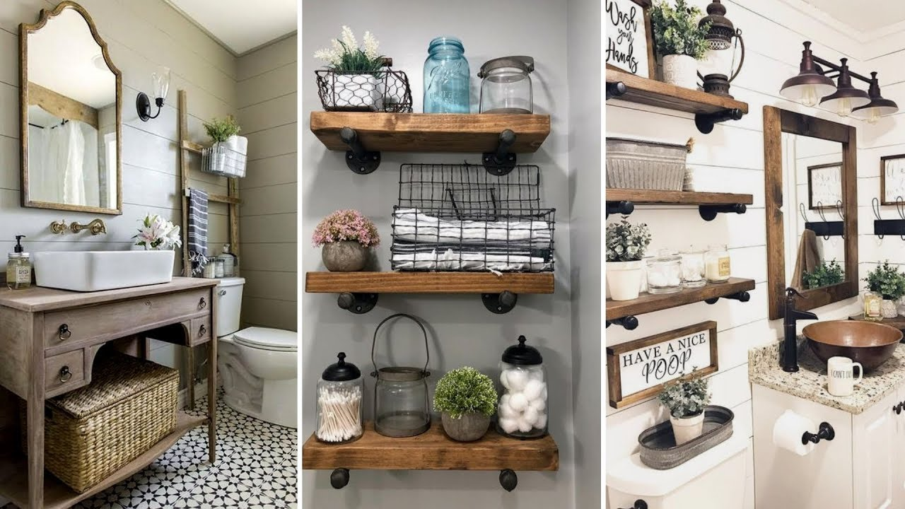 DIY Rustic Farmhouse Style Bathroom Decor Ideas