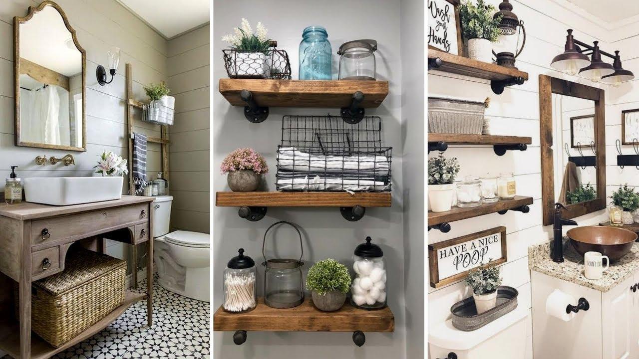 DIY Rustic Farmhouse Style Bathroom Decor Ideas
