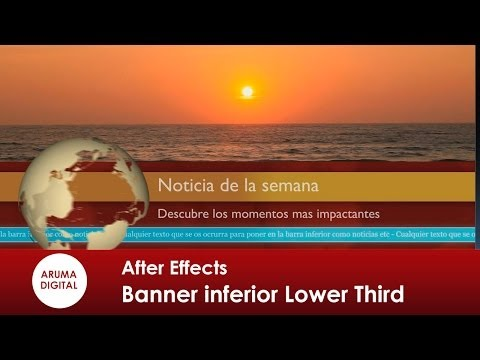 After Effects 123 Lower third banner video animado noticiario mundo