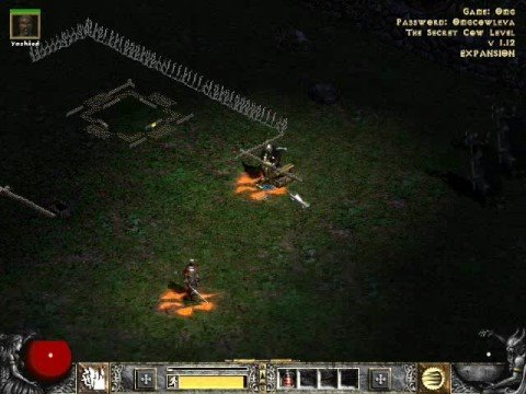 how to open the cow level in diablo 2