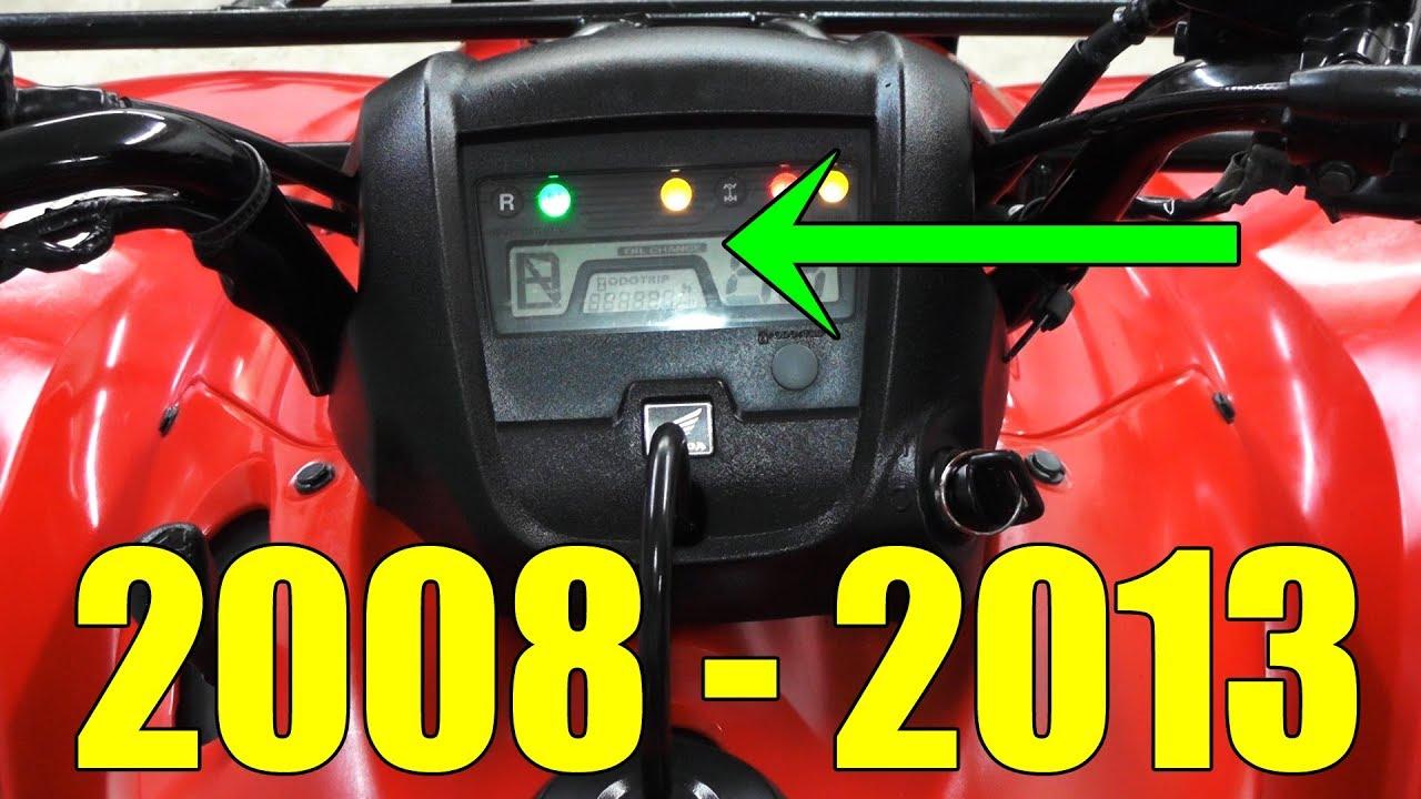 HONDA RANCHER 420 - OIL CHANGE LIGHT RESET