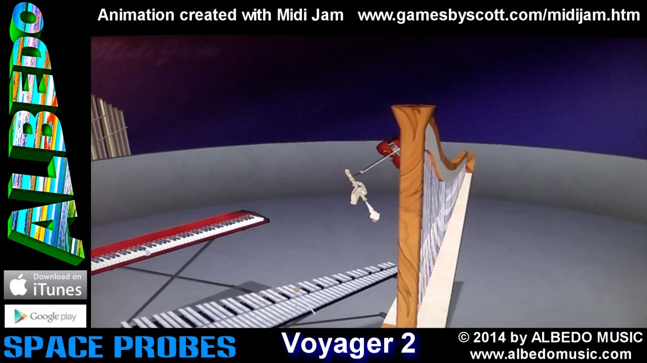voyager 2 from space probes by albedo midi jam 3d music