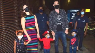 Sunny Leone With Daughter Nisha Kaur & Twin Kids & Hubby Daniel Weber Spotted At Juhu Estella