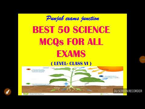 General science important  MCQs for exams