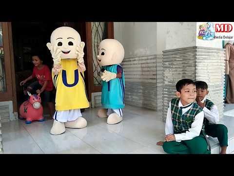 Hiburan Balonku Ada Lima | Dibalik Kostum Badut Upin & Ipin, Qyla Lucu Hibur Temannya Asik Joget