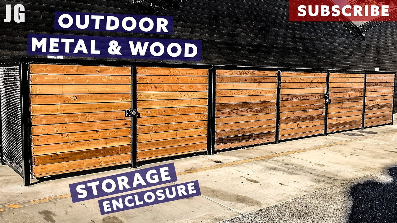 Metal And Wood Outdoor Storage Enclosure | JIMBOu0027S GARAGE