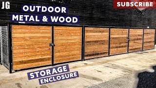 Metal and Wood Outdoor Storage Enclosure | JIMBO'S GARAGE