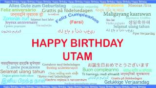 Utam   Languages Idiomas - Happy Birthday