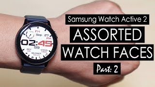 Samsung Galaxy Watch Active 2 Watch Faces Better Than The Apple Watch 5 Watch Faces? [4K]
