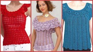 Soo Beautiful \u0026 Easy Hand Made Crochet Tunic Top//Blouses Designs Collections 2021